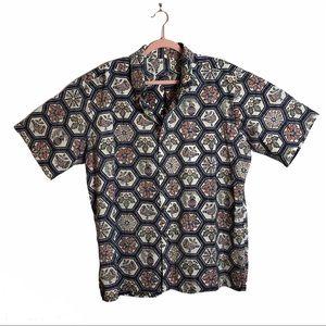 reyn spooner 2012 Christmas shirt blue Hawaiian